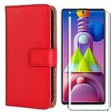 HYMY PU Leder Hülle für Nokia 1.3 + Schutzfolie