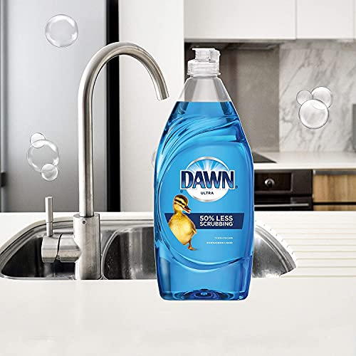 Product Image 9: Dawn Ultra Dishwashing Liquid Dish Soap (4x19oz) + Non-Scratch Sponge (2ct), Original Scent (Packaging May Vary), Combo pack