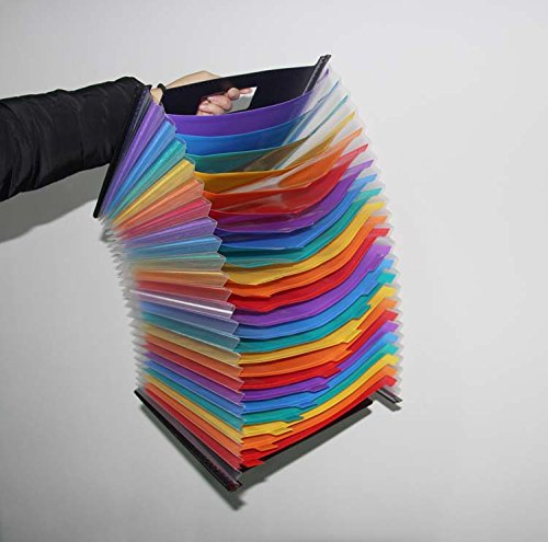 24 Pockets Expanding File Folder/ A4 Accordion File Organizer/Multicolor Portable Expanding File Folder,High Capacity Plastic Business Portable Accordion File Bag,with Colored Tab Office (01) Photo #4
