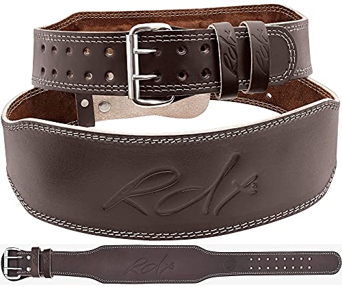 """RDX Weight Lifting Belt Leather, 4"""" Padded Lumbar Back Support, 10..."""