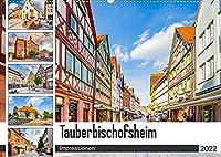 Tauberbischofsheim Impressionen (Wandkalender 2022 DIN A2 quer): Die Stadt Tauberbischofsheim dargestellt auf zwoelf einmaligen Bildern (Monatskalender, 14 Seiten )