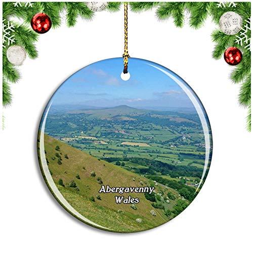 Weekino Gales Abergavenny Sugarloaf Mountain Reino Unido Inglaterra Decoración de Navidad Árbol...
