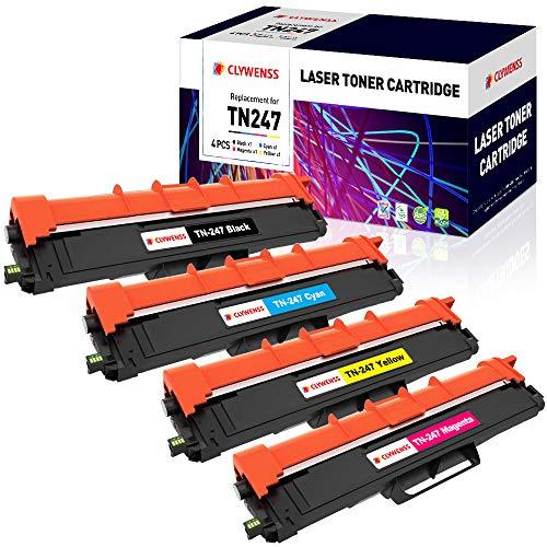 Clywenss TN247 TN243 Compatibile per Brother TN-247 TN-243 Cartucce Toner per Brother DCP-L3550CDW MFC-L3750CDW MFC-L3770CDW MFC-L3730CDN HL-L3210CW HL-L3230CDW HL-L3270CDW MFC-L3710CW DCP-L3510CDW