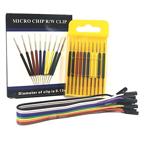 Micro IC Hook Clip, Mini Clip for IC Test Leads,Adapterof oscilloscope Logic Analyzer IC Tester multimeter Signal Generator andIC Programmer