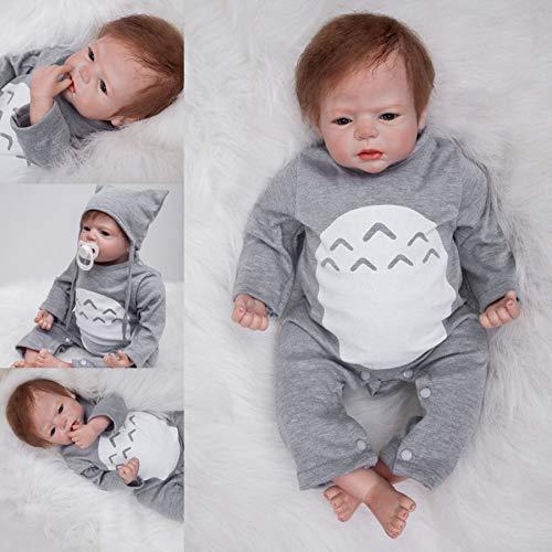 ZIYIUI Bambole Reborn Bambino 22 Pollici 55 Centimetri Realistico Bambole Reborn Maschio in Silicone Morbido Reborn Ragazzo Occhi Aperti Neonato