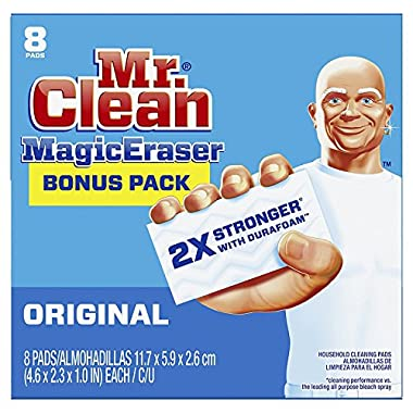 .Mr. Clean Magic Eraser Original, Cleaning Pads with Durafoam, 8 count (Packaging May Vary) (8ct, 2-Pack)