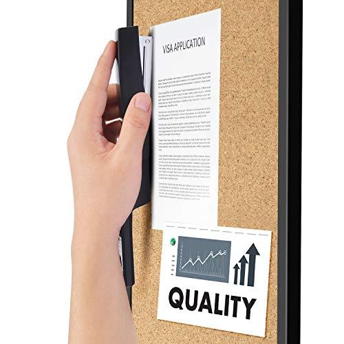 KangBaz Stapler, Office Stapler with 5000 Staples,Classic Desktop Stapler and White Steel Staples, 20 Sheet Capacity(26/6),1/4 inch Staples, Staples Standard,Jam Free,Non-Slip,Black Photo #6