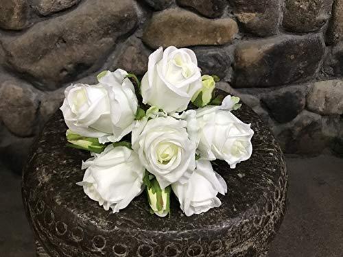 ZCMTD 1 Bouquet Real Touch Rose Faux Bouquet de Roses Décoration de Mariage de Fête Bouton de Rose 9 Têtes 1 Bouquet