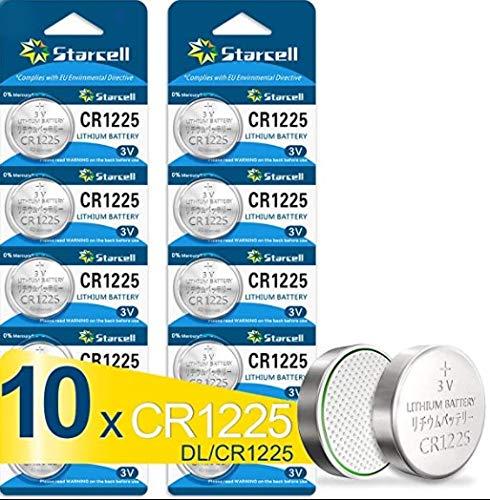 Starcell CR1225 - Pilas de botón electrónicas (10 unidades) CR1225X10