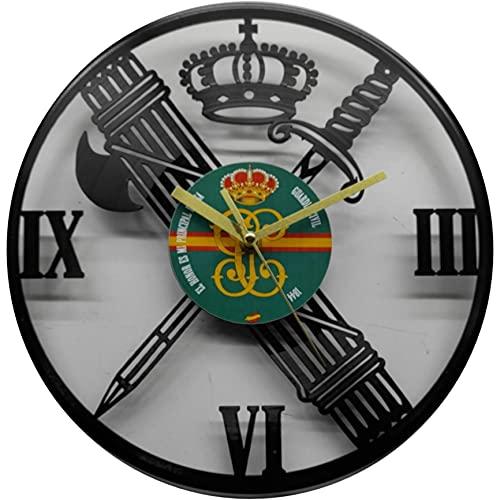 Reloj de la Guardia Civil, Fabricado en Disco de Vinilo.