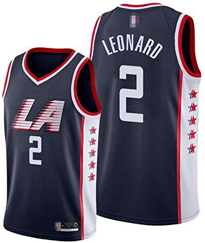 llp Jersey Men's, NBA Los Angeles Clippers # 2 Kawhi Leonard - Ropa Deportiva de Baloncesto Clásico Comfort Flojo Comfort Chalecos Tops, Camisetas sin Mangas Uniformes (Color : Black, Size : Small)