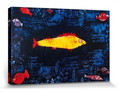 1art1 Paul Klee - Der Goldene Fisch, 1925 Bilder Leinwand-Bild Auf Keilrahmen | XXL-Wandbild Poster Kunstdruck Als Leinwandbild 120 x 80 cm