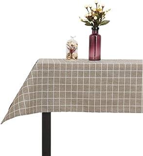 Mantel Antimanchas, El Mantel de algodón Estampado es Adecuado para la Mesa de Comedor y la Mesa pequeña del jardín de Coc...