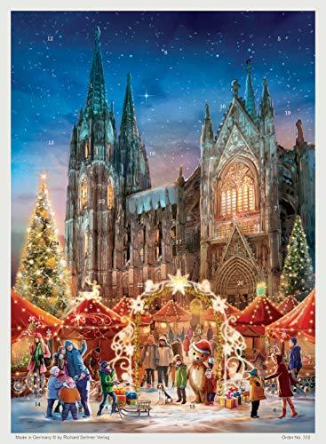 Richard Sellmer Verlag Calendario de Adviento de papel con imágenes y purpurina para niños y adultos Colonia
