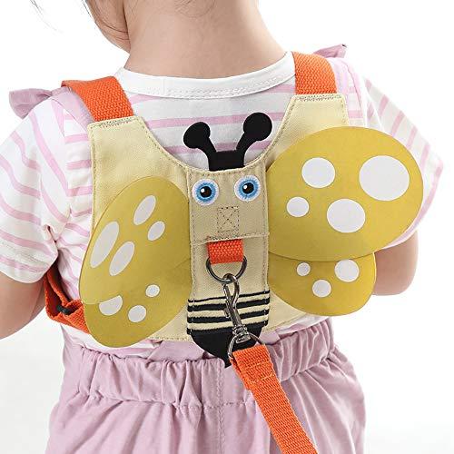 Shuny Baby Kind Kleinkind Walking Sicherheitsgeschirr, Kinder Pferdeleine, Anti-verloren Gürtel, Leine für Kinder, Sicherheitsleine für Baby Stehen Gehen Lernen Helfer Walker Sicherheitsleinen(Biene)