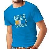 lepni.me Camisetas Hombre Carga de Cerveza, Citas Divertidas, Humor de Bar para Amantes de la Cerveza (Medium Azul Multicolor)