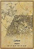 Pakistan Lahore Landkarte Wandkunst Poster Leinwanddruck