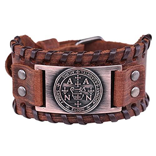 Compass Rune Pendant Men Bracelet Retro Nordic Charm Bangle Friendship Bracelet Leather Homme Jewelry