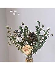 枯れない花 永遠の花 置物 ドライフラワー プリザーブドフラワー 北欧 インテリア アートフラワー 花瓶付き 人工観葉植物 おしゃれ お供え お盆 仏花 ブーケ 花束 転居 記念日 プレゼント