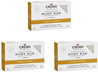Sponsored Ad - Cremo Exfoliating Citron & Vetiver Body Bar, A Citrus Scent with Notes of Grapefruit, Ginger and a Touch of...