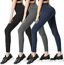 FULLSOFT 3 Pack Super Soft Black Leggings for Women-High Waist Yoga Workout Running Pants (3 Pack Black, Dark Grey, Navy Blue, Plus Size)