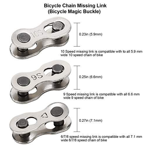 Qkurt Fahrradketten Nieten + Armband für Fahrrad Ketten + 6 Paare Fahrrad Fehlt Link, Fahrradkette zange Fahrradkette Nietwerkzeug Set für 6/7/8/9/10 Fach Ketten Reparieren - 6