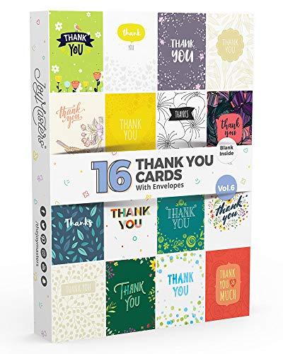 Joy Masters - Combo de 16 Tarjetas de Agradecimiento en Blanco - Vol. 6