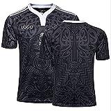 GWCASA Legendary Rugby Camiseta Nueva Zelanda Black 100th Anniversary Edition Rugby Jersey, Fan Classic Fan Rugby Polo Shirt L