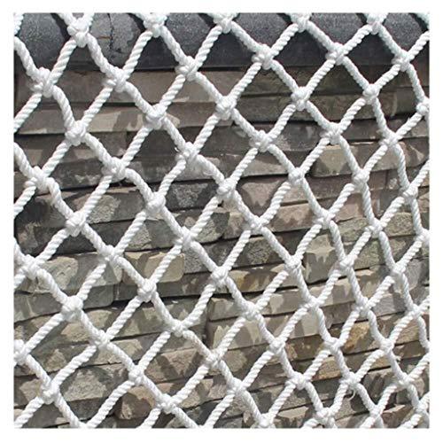 Beschermnet, tuindecoratie, veiligheidsnet voor kinderen, wit touw, net, net, netafdekking, netbescherming, hangmat, schommelnet, net van 2 m3 m