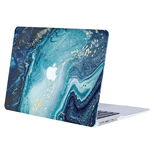 MOSISO Hard Case Compatible with MacBook Air 13 inch Model A1369 / A1466 (Release 2010-2017 Older Version), Ultra Slim Pattern Plastic Protective Snap On Shell Cover, Creative Wave Marble