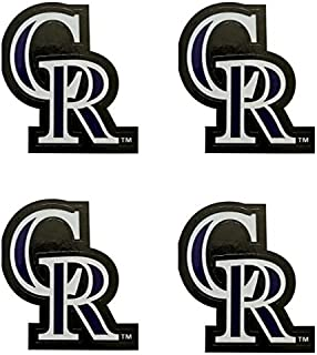 mlb 4 Colorado Rockies Team Logo Stickers Set Individual Official Major League Baseball Helmet Emblems Denver The Rocks
