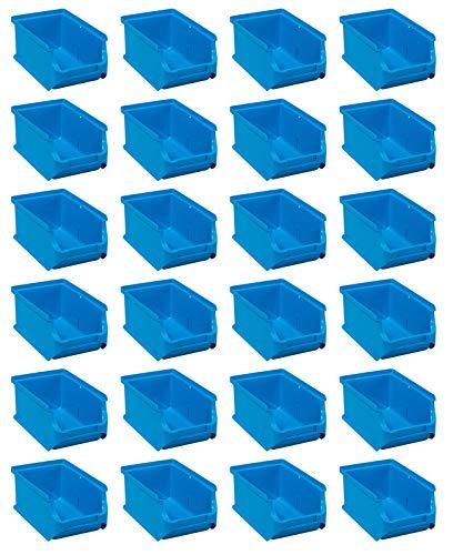 24x Stapelbox Gr 2 Blau Stapelboxen Lagerboxen Lagerkiste ProfiPlus Allit 456204 Sichtlagerbox