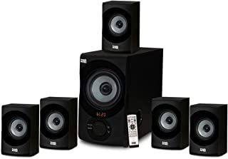 Acoustic Audio AA5172 700W Bluetooth Home Theater 5.1 Speaker System with FM Tuner, USB, SD Card, Remote Control, Powered ...