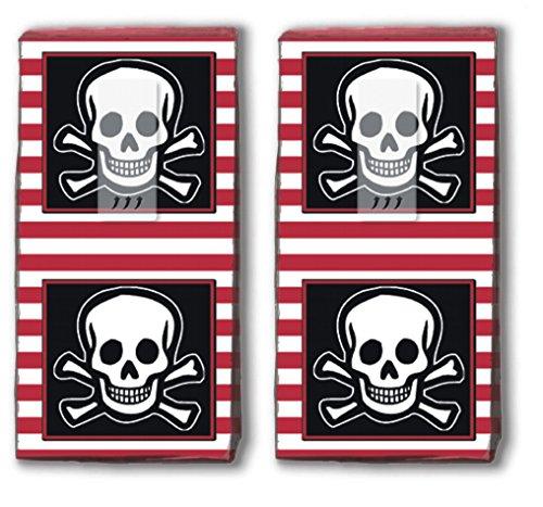 20 zakdoeken (2 x 10) Jolly Roger – piratenvlag/piraat/kinderverjaardag/zakdoekjes met motief