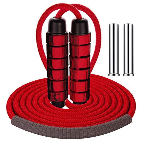 ANSUG Springseil Schwere Schnellkugellager Verwicklungsfreies, einstellbares Trainingsgeschwindigkeits-Trainingsseil für Fitness, Fettverbrennung, Crossfit, Boxen, HIIT, Intervalltraining