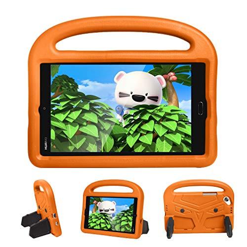 Case2go Hülle für Huawei Mediapad M3 Lite / M5 Lite - 8.4 Zoll - Superleicht Eva Kids Shock Proof Cover StoÃ?fest Kindgerechte Schutzhülle - Sparrow Kids Cover - Orange