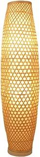 Bambú De Mimbre Sombra De Sombra Florero Lámpara De Pie Accesorio Rústico Asiático Japonés Arte Nórdico Lámpara De Iluminación (Color : 25 * 100cm)
