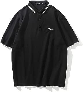 BaronHong Cotton Fashion Striped Short Sleeve Polo Shirt for Tomboy Trans Lesbian