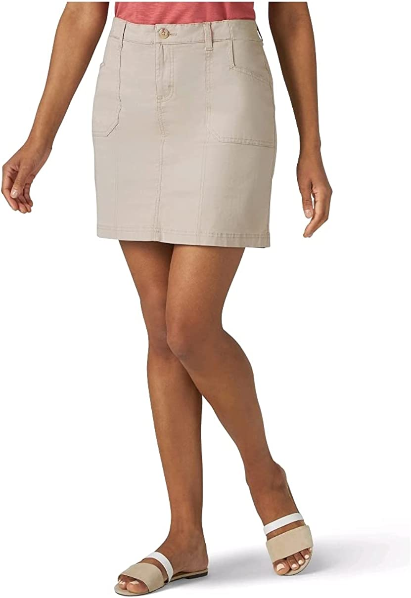 Lee Riders Women's Midrise Large discharge sale Skirt 16 Free shipping Skort Simply Taupe