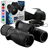 Think Peak Toys Binoculars for Kids, Toy for Sports and Outdoor Play, Spy Gear and Learning Gifts for Boys & Girls, Black
