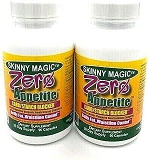 Zero Appetite - Well-Known Carbohydrate Blocker 90 Count Per Bottle - Caffeine Free Skinny Diet Pills - White Kidney Bean ...