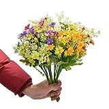 6Pcs Artificial Flower Faux Silk...