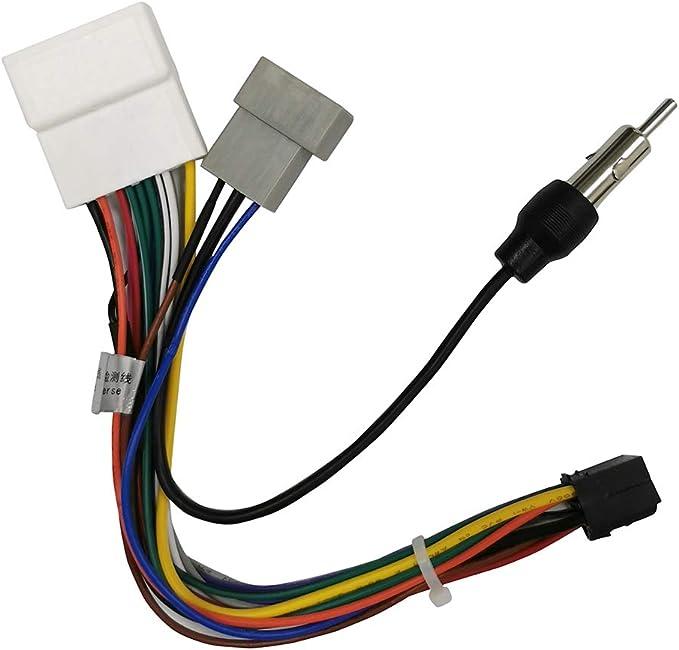 ANKEWAY Adaptador para Radio de Automóvil Android, Solo para Conectores ISO Macho y Hembra de Radios de Automóvil Nissan y ANKEWAY