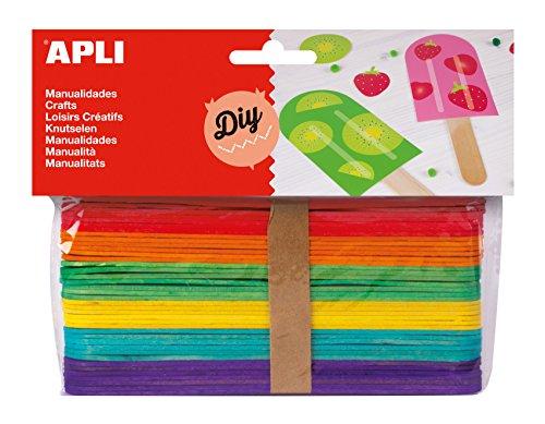 APLI - Bolsa palo polo colores surtidos 150x18mm, 40 uds