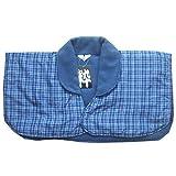 冬の寝冷え対策に エコであったか肩当てパッド 4カラー2サイズ (M, ④青系格子柄)