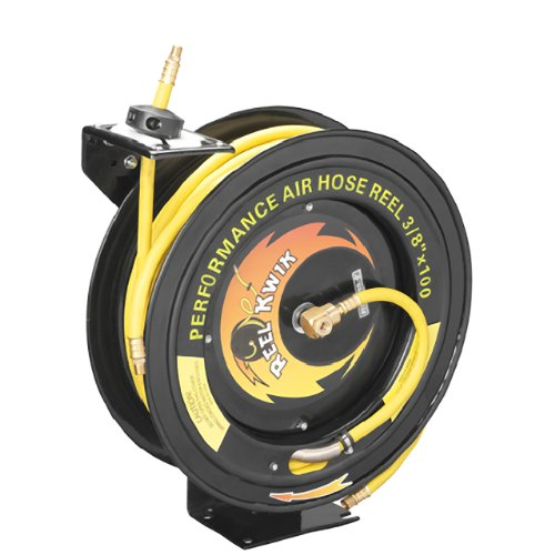 PENTAGON TOOLS - 3260 REEL KWIK 100 AIR REEL 3260 Pentagon Tools 3/8 300PSI Heavy Duty Retractable 100 Foot Air Hose & Reel Professional Grade