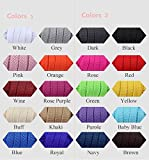 Double Flat Shoelaces 20 Pairs 9mm Width for Sneaker Running Shoes Canvas Shoes-Assorted Colors(60cm 10 Pairs 1)
