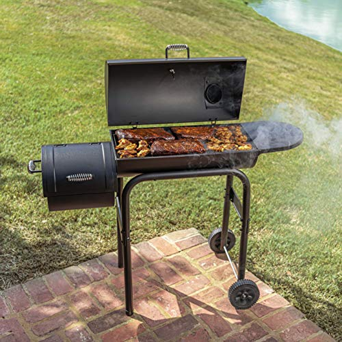 Product Image 7: Char-Broil 12201570-A1 American Gourmet Offset Smoker, Black,Standard