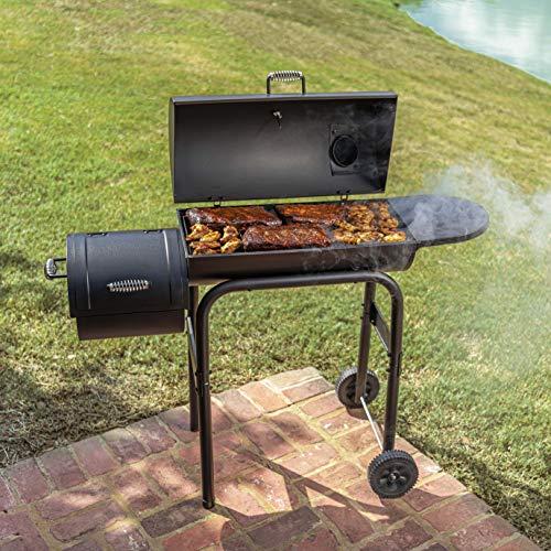 Char-Broil 12201570-A1 American Gourmet Offset Smoker, Black,Standard