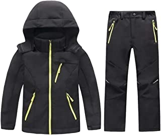 LANBAOSI Boys & Girls Jacket and Pants Kids Softshell Fleece Lined Suits